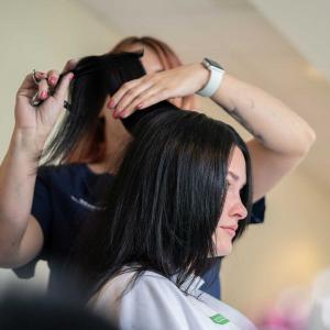 Foto av hårklipp